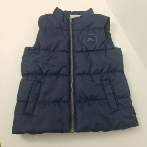 Tommy Bahama Boys Puffer Vest Blue Full Zip